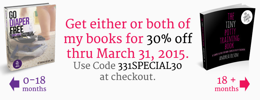 ec and potty training book sale march 2015