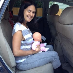 Holding Baby on TopHat Potty while in parked car