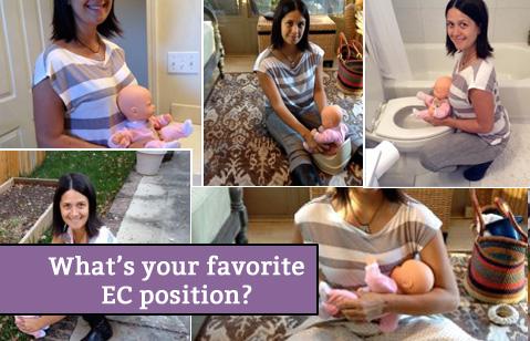 Elimination Communication potty positions