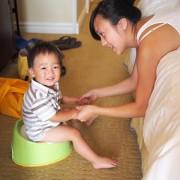 early potty training boy