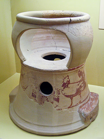 6th century BC chamber pot and baby seat