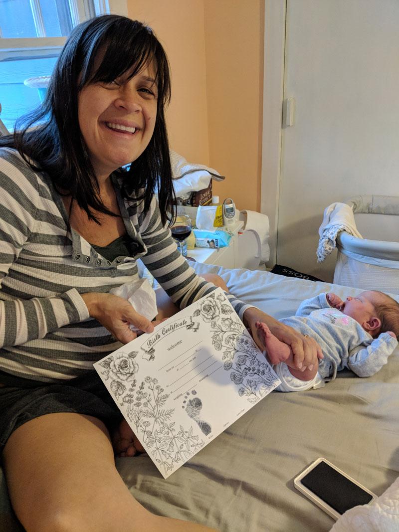 Andrea unassisted birth certificate