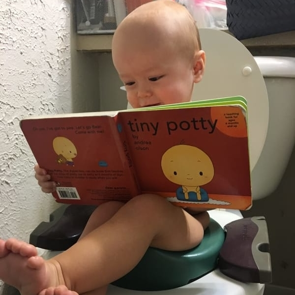 Baby Reading Tiny Potty Board Book