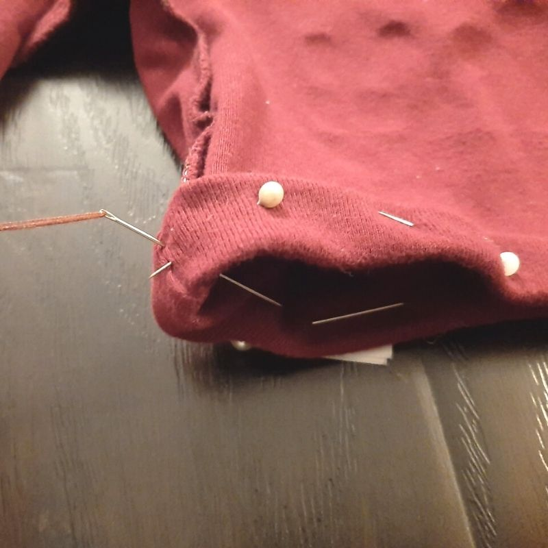 Begin stitching