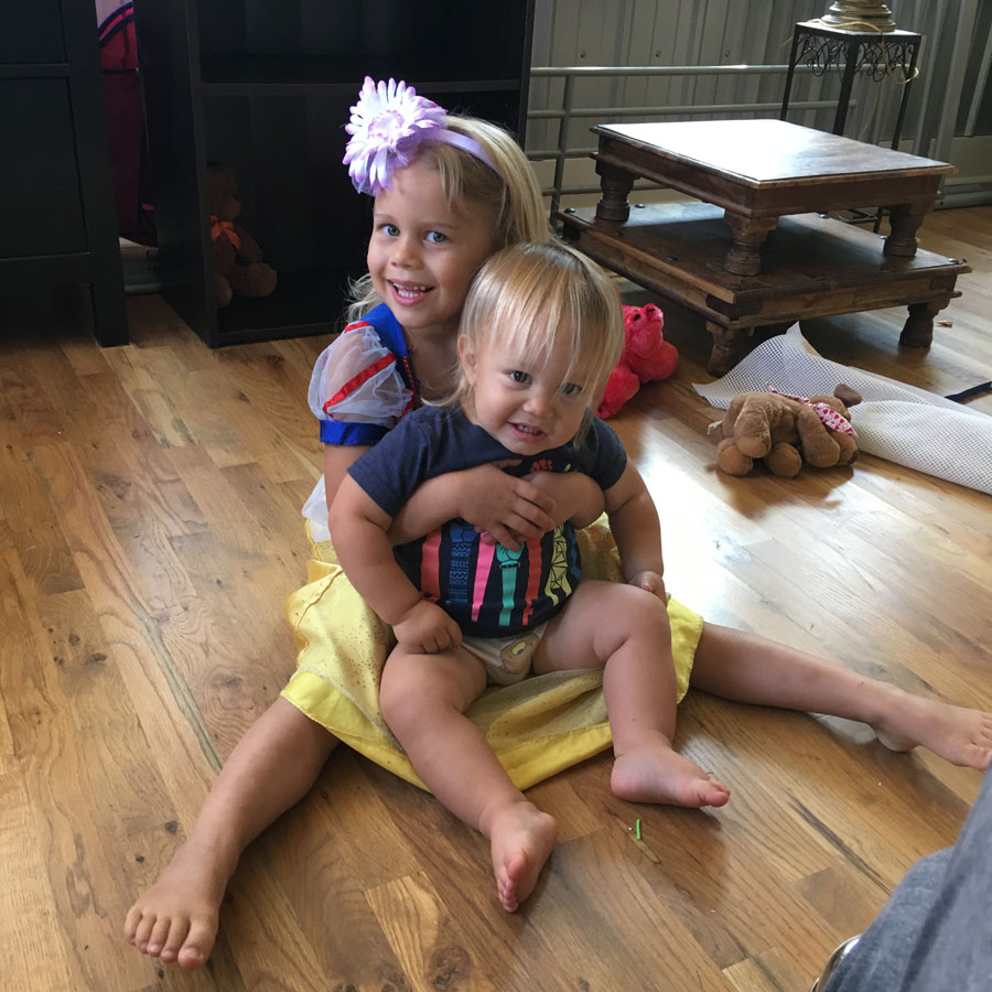 Branson 17 mos with sister