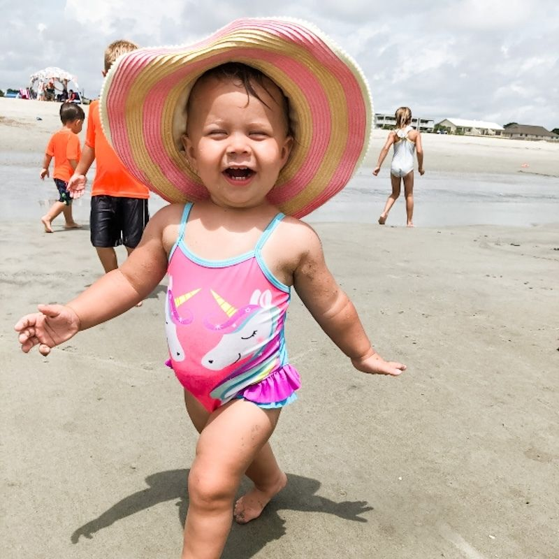 EC at the beach how to be diaper free and potty your baby at the beach