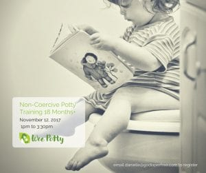 Non-Coercive Potty Training for 18 months+