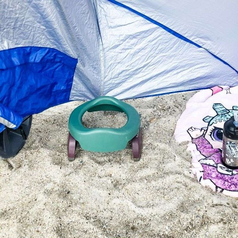 Potette Plus potty at the beach