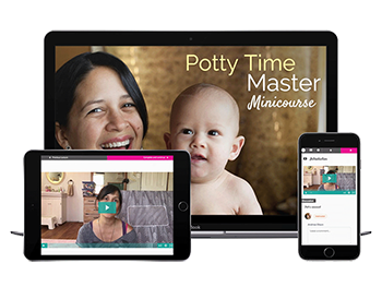 Learn when it's time to potty baby (even if she doesn't signal).