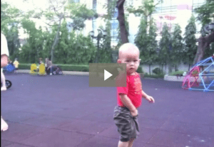 toddler pee signals on playground