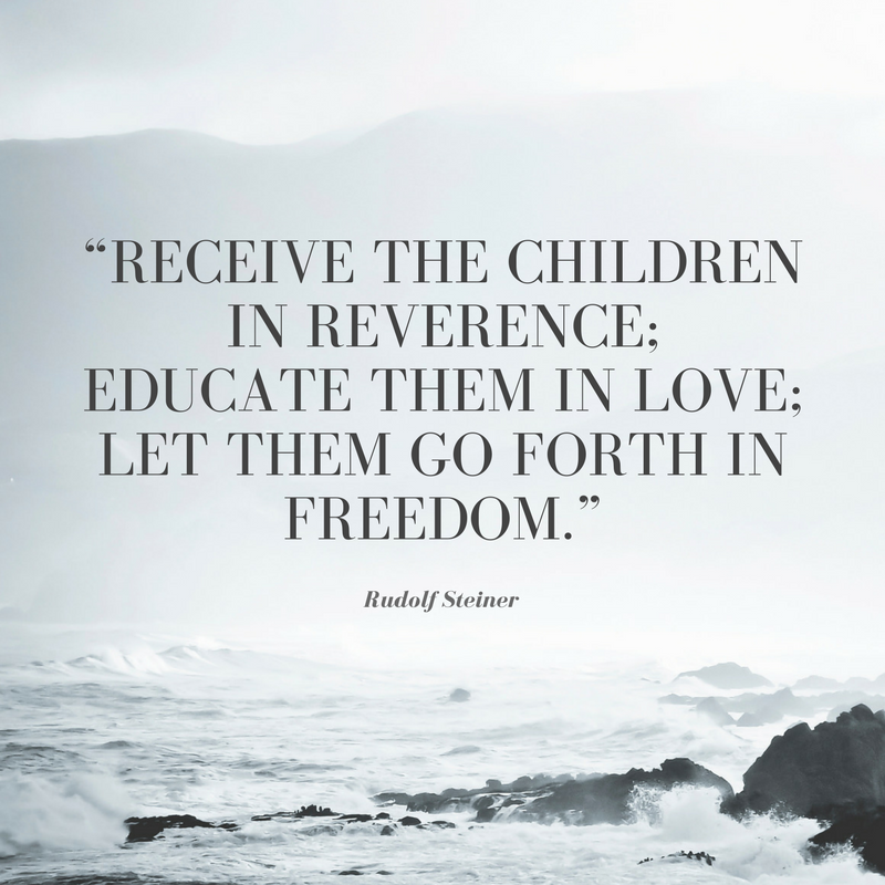 Receive the children in reverence