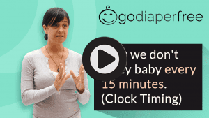 Why we don't potty baby every 15 minutes (clock timing)