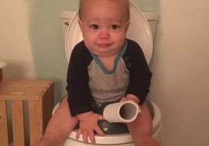 baby pooping face three - the big push