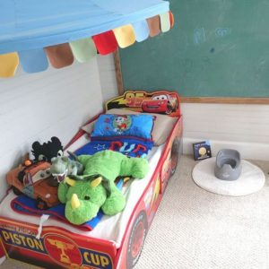 bedside night potty training station with potty and book