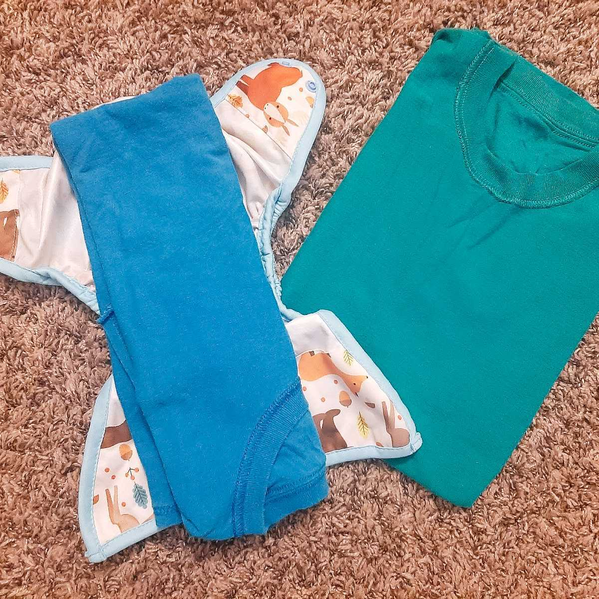 cut up one old tshirt to make cloth wipes - DIY Budget EC
