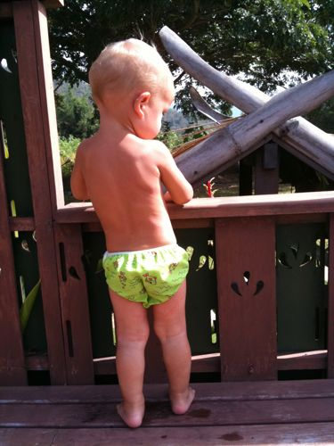 infant potty training makes it easier at the pool
