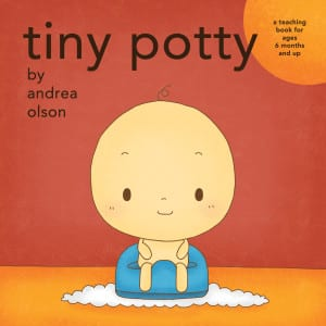 tiny potty board book by andrea olson cover