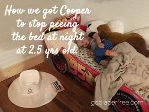 how we got 2.5 year old to stop peeing the bed at night