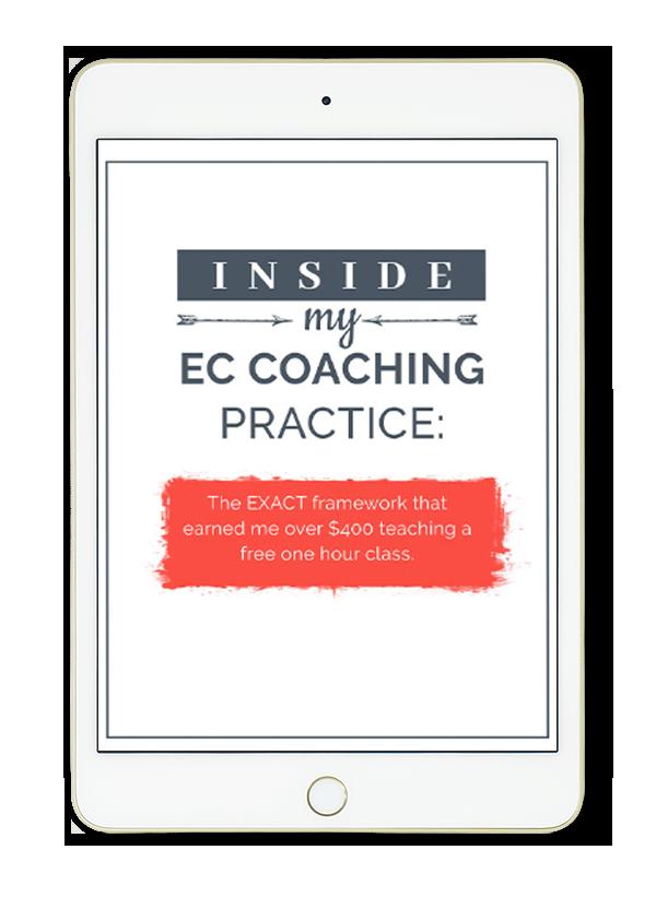 inside my EC coaching practice - fast-action bonus