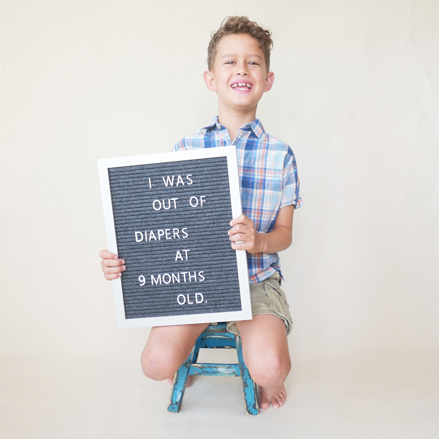 kaiva out of diapers sign