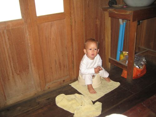infant potty training - setting up a potty area