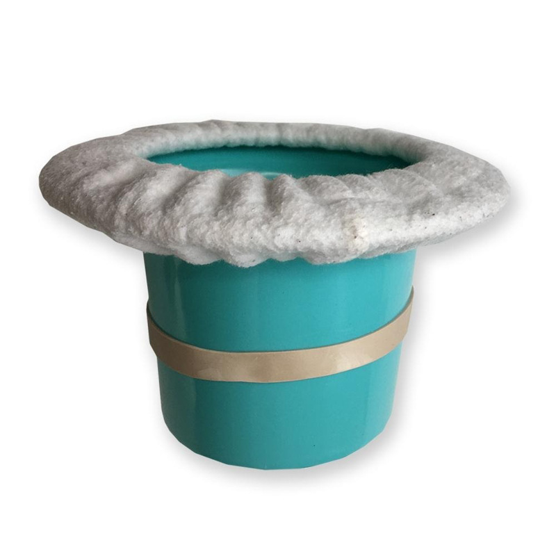 top hat potty for newborn or smaller baby at the beach